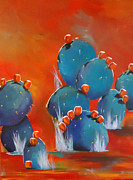 Diana Prickett Metal Prints - Haute cacti Metal Print by Diana Prickett