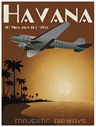 Vintage Travel Digital Art Framed Prints - Havana Framed Print by Cinema Photography