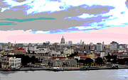 Cuba Mixed Media - Havana Cuba El Morro by Charles Shoup