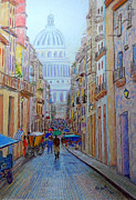 Streetscape Pastels - Havana Cuba by Rae  Smith PSC