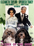 Havanese Paintings - Havanese Art - Father of the Bride Movie Poster by Sandra Sij