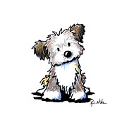 Whimsical Dog Breed Art Framed Prints - Havanese Puppy Framed Print by Kim Niles