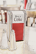 Table Top Framed Prints - Have A Coke Framed Print by Karol  Livote