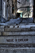 Street Art Metal Prints - Have a Dream Metal Print by Karim SAARI