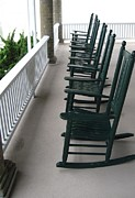 Rocking Chairs Photos - Have A Seat by Donna Cavender