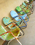 Chairs Art - Have a Seat Rusty Chairs by Shari Warren