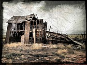 Wooden Building Mixed Media Prints - Have Mercy and Let Me Go Print by JFantasma Photography