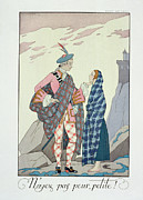 Tartan Painting Posters - Have no fear little one Poster by Georges Barbier