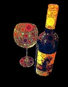 Bubbly Posters - Have Some Wine Poster by Cindy Edwards