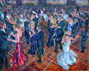 Ballroom Posters - Having a Ball - Dancers Poster by Quin Sweetman