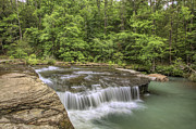 Ozark Mountains Photos - Haw Creek Falls from the Bluff - Ozarks - Arkansas by Jason Politte