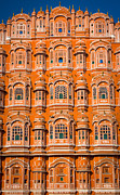 Jaipur Photos - Hawa Mahal by Inge Johnsson