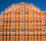 Jaipur Photos - Hawa Mahal Moon by Inge Johnsson