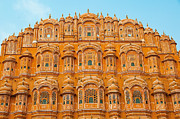 Singh Prints - Hawa Mahal-Palace of Winds-2 Print by Mukesh Srivastava
