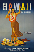 Airplane Prints - Hawaii by Clipper Print by Nomad Art And  Design