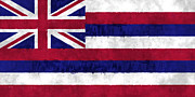 U S Flag Digital Art Posters - Hawaii Flag Poster by World Art Prints And Designs
