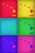 Featured Art - Hawaii Pop Art Map 1 by Irina  March