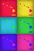 Hawaii Pop Art Map 1 Print by Irina  March