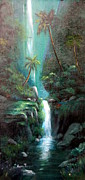 Waterfalls Paintings - Hawaii Splendor by Marcus Thompson