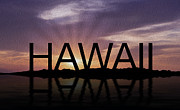 Hawaii Tropical Sunset Print by Aged Pixel