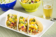 Shredded Prints - Hawaiian BBQ Chicken Tacos 2 Print by Leigh Anne Meeks