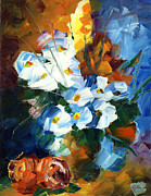 Amor Paintings - Hawaiian Bouquet by Ash Hussein