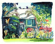 Plantation Paintings - Hawaiian Cottage 3 by Marionette Taboniar