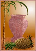 Dance Of Life Posters - Hawaiian Pineapple Poster by Ronald Chambers