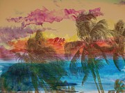 Hawaiian Sunset Print by Athala Carole Bruckner