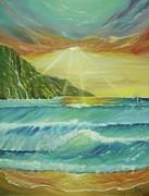 Hawaiian Sunset Print by Gigi  Cook