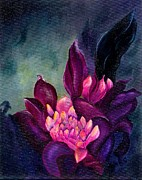 Torch Paintings - Hawaiian Torch Ginger by Peggy Mars