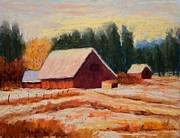 Morning Pastels - Hawks Prairie Winter by Arlene Baller