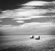 Tim Hester - Hay Bales Black and White