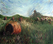 Bales Paintings - Hay Bales by Brian Freeman