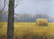 Solitude Pastels - Haybale by Jean Neely