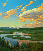 Hayden Valley Sunset Print by Paul Krapf