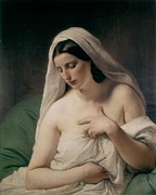 Romanticism Posters - Hayezfrancesco 1791-1882. Odalisque Poster by Everett