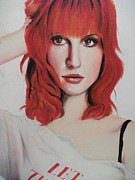 Lead Singer Painting Originals - Hayley Williams by Andrea Carrasco