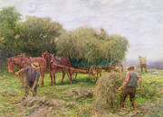 Haymaking Print by Arthur Hopkins