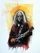 Warren Haynes Posters - Haynes Reprise Poster by William Walts