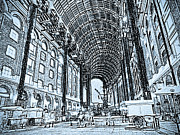 London England  Digital Art - Hays Galleria London Sketch by David Pyatt