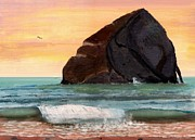 Pacific City Paintings - Haystack Rock at Kiwanda by Chriss Pagani