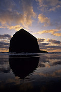Haystack Rock Framed Prints - Haystack Rock Framed Print by Doug Davidson