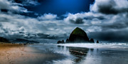 Sandy Beaches Posters - Haystack Rock II Poster by David Patterson