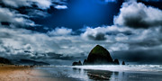 Sandy Beaches Posters - Haystack Rock III Poster by David Patterson