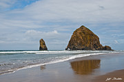 Jeff Goulden - Haystack Rock Reflected...