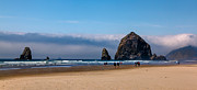 Seacape Metal Prints - Haystack Rock Metal Print by Robert Bales