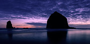 Cannon Prints - Haystack Rock Twilight Print by Dan Mihai