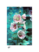 Flowers Photographs Pastels Prints - Hayward Flower Garden Pastel Print by Mike Bernard