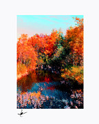 Flowers Photographs Pastels Prints - Hayward Maple Autumn Print by Mike Bernard